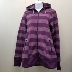 Cabelas S Hoodie Sweatshirt Purple Stripe Thumb H